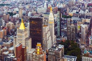 New York in de avond foto