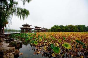 Chengde, prachtige herfst landschap in China. foto