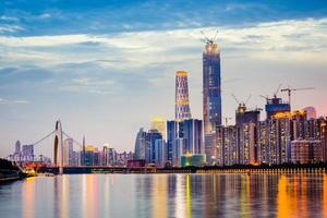skyline van Guangzhou foto