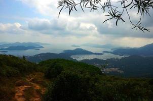 panoramisch uitzicht op het platteland foto