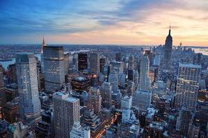 New York City zonsondergang foto