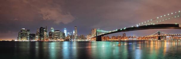 New York panorama van de stad foto