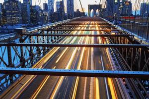 New York City 's nachts. foto