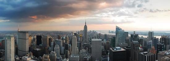 New York skyline van de stad panorama foto