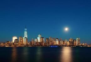 Manhattan schemering foto