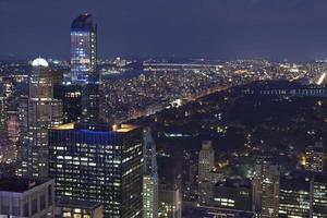 Manhattan met central park in de stad van New York foto