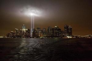 """tribute in light"" 10e verjaardag van 11 september 2001 foto"