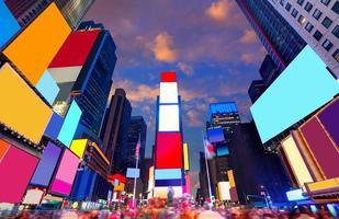times square manhattan new york verwijderde advertenties foto