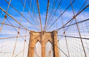de brooklyn bridge, new york city, Verenigde Staten foto