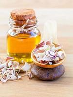 natuurlijke spa-ingrediënten. - etherische olie van citroengras voor alterna foto