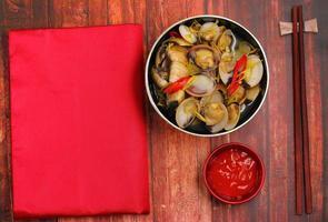 clam soep foto