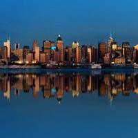 skyline van midtown manhattan foto