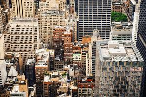 New York City Manhattan wolkenkrabbers van hoog punt. foto