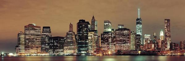 Manhattan 's nachts foto
