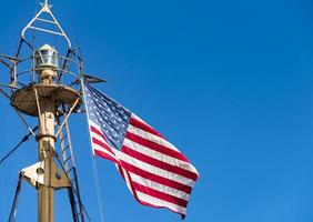 vlag van de Verenigde Staten van Amerika in scheepsmast foto