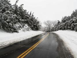 eenzame weg, Hudson Valley NY foto