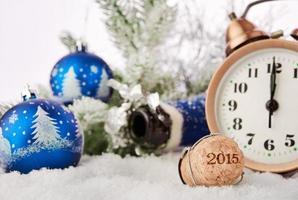 Nieuwjaars champagne kurk Nieuwjaar 2015 foto