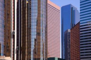 La Los Angeles skyline van het centrum van Californië