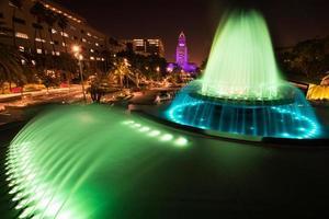 stadhuis van los angeles gezien vanaf het grote park foto