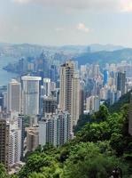 skyline van hong kong vanaf de top foto