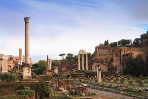 uitzicht over het forum romanum foto