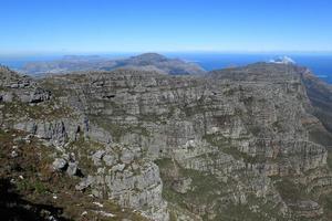 der tafelberg bei kapstadt in zuid-afrika foto