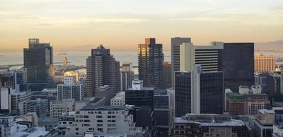 Centraal zakendistrict van Kaapstad foto