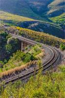 treinrails over een brug (spoorweg) foto