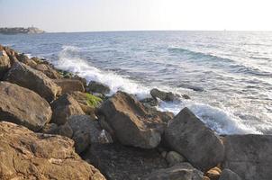 tel aviv / yafo zee & zonsondergang foto