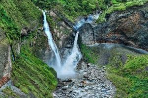 watervallen in banos, ecuador foto