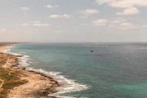 Apollonia strand in de buurt van Tel Aviv foto