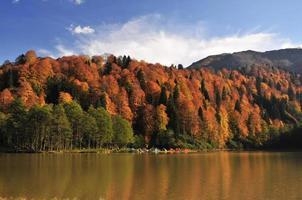 herfst kamperen foto
