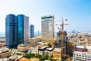 panorama van de stad tel aviv straten foto
