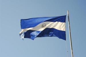 nationale vlag van el salvador foto