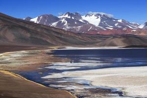 zwarte lagune, vulkaanpissis, catamarca, Argentinië foto