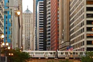 chicago-architectuur, metro, de l, transport foto
