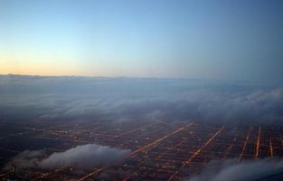 chicago raster in de voorsteden foto