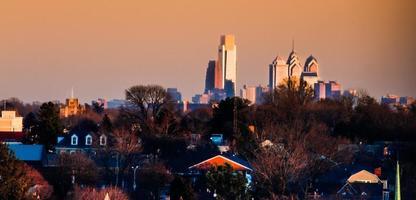 Philadelphia bij zonsondergang foto