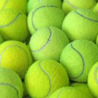 tennisbal als sportachtergrond
