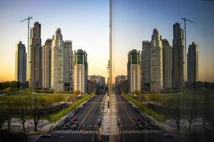 gebouwen in een stad foto