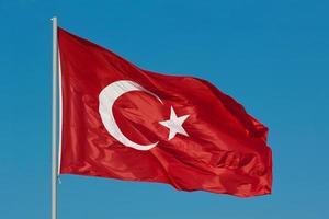 Turkse vlaggen foto