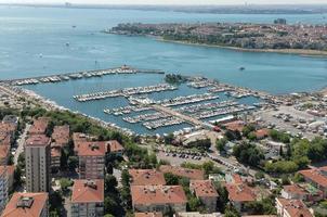 Luchtfoto van Istanbul foto