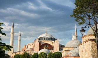 hagia sophia, sultan ahmed blauwe moskee, istanbul turkije foto