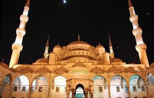 blauwe moskee, sultanahmet istanbul .. foto