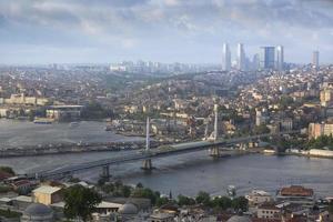prachtig uitzicht op istanbul foto