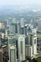 luchtfoto van kuala lumpur van klcc foto