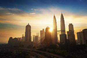 morden kantoor in het centrum van Kuala Lumpur foto