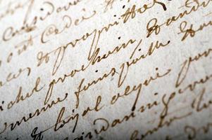 macro-opname op een oud document foto