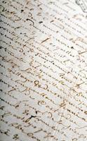 oud manuscript foto