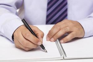 menselijke hand ondertekenen